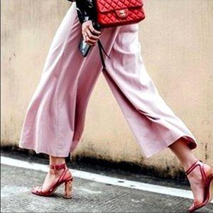Zara Pink & Clear Acrylic Heels